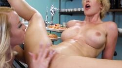 DevilsFilm My New Cougar Boss Kit Mercer Welcomed Me By Spanking My Wet Pussy